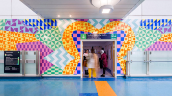 Maternity mural, by Adam Nathaniel Furman